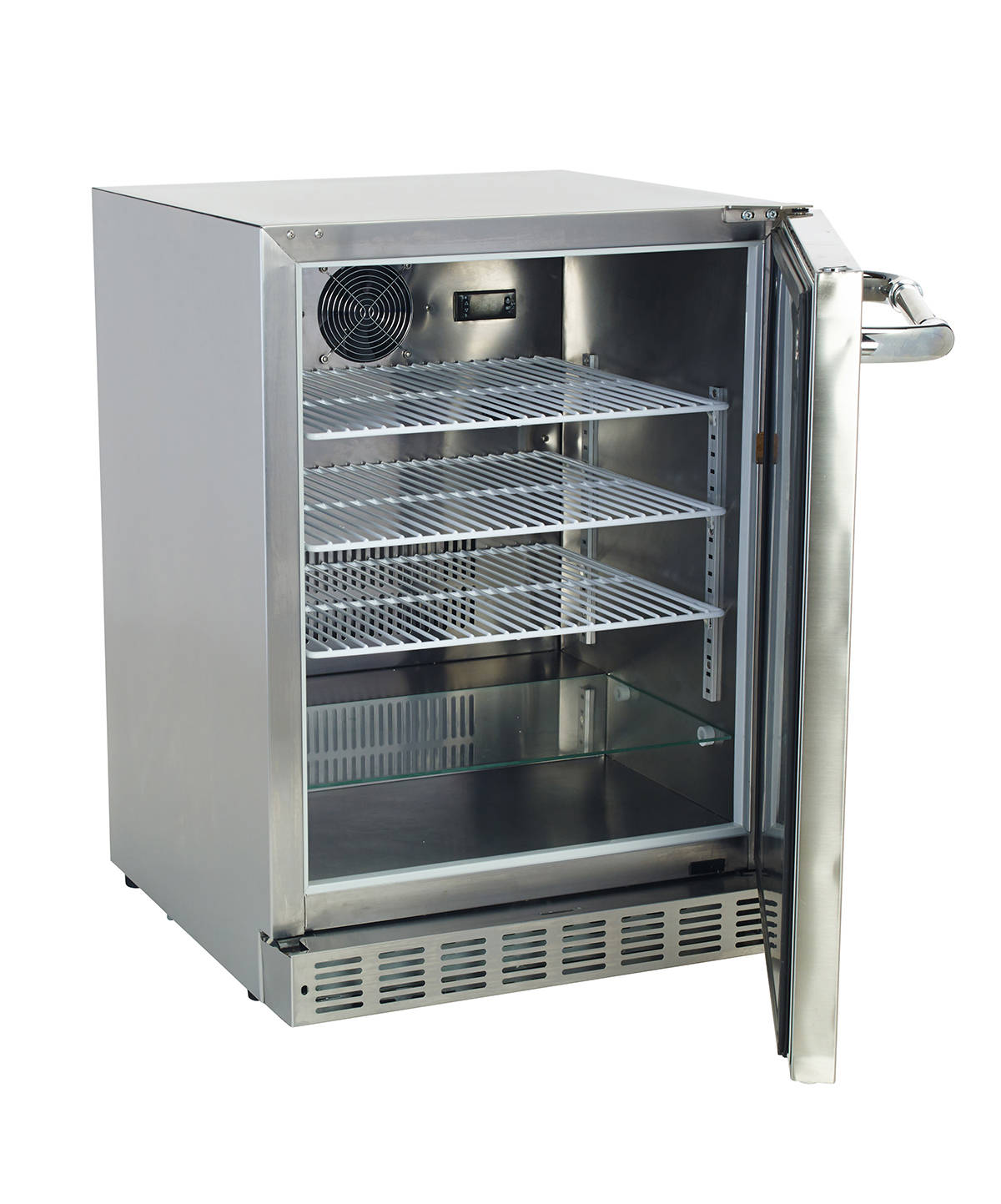 Bull 5 6 cu ft built in freestanding outdoor stainless for Outdoor kitchen refrigerators built in