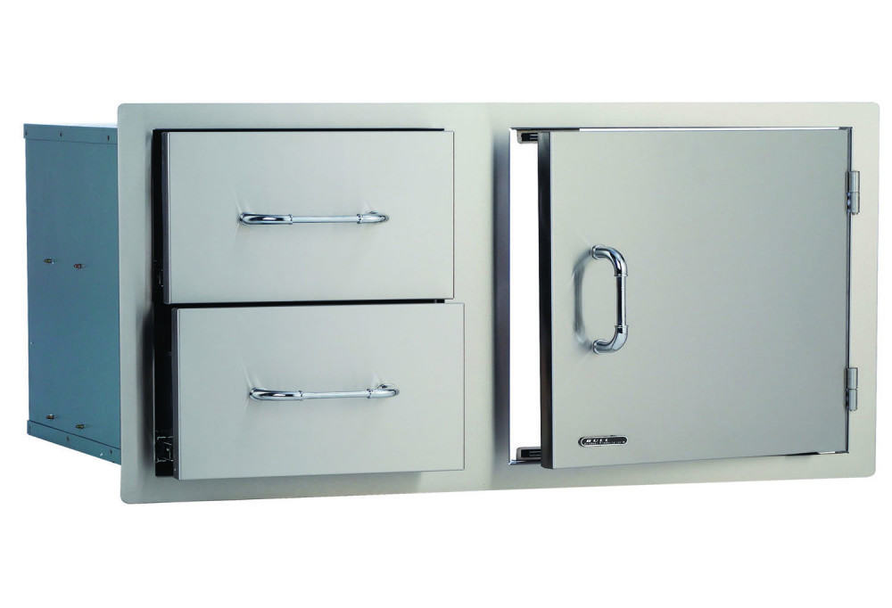 Bull 38 Stainless Steel Access Door Amp Double Drawer Combo