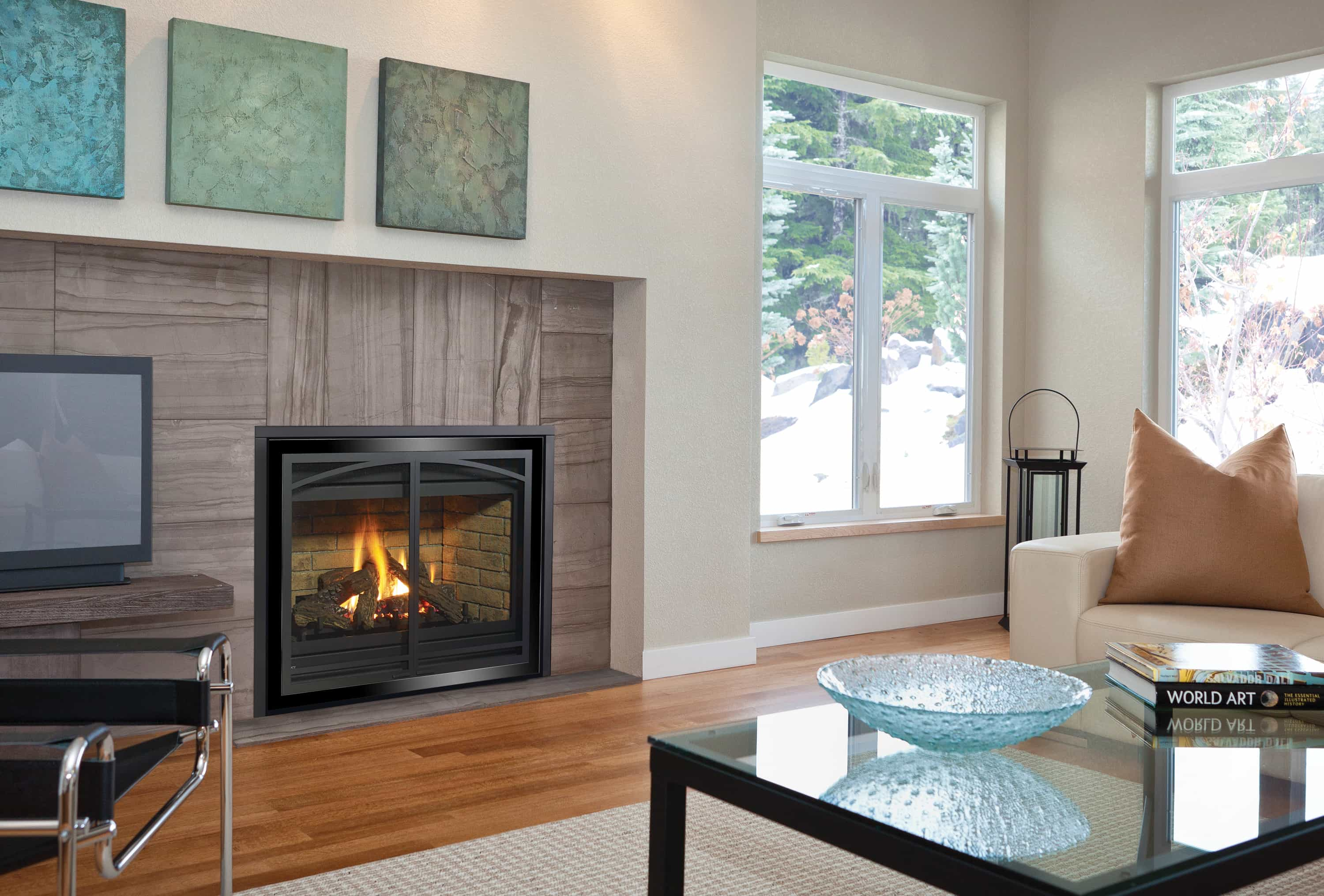 standard home through gas showcase add burning custom fire to fireplace sided wood acucraft see